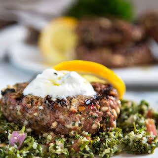 Mediterranean Feta Lamb Burgers.