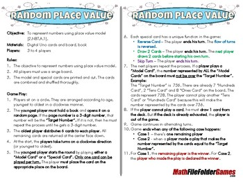 Random Place Value - [CCSS 2.NBT.A.1]