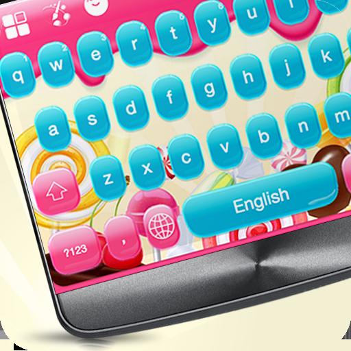 Pink Candy Keyboard Theme