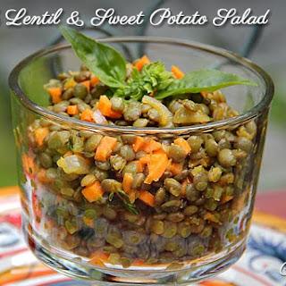 French Lentil & Sweet Potato Salad