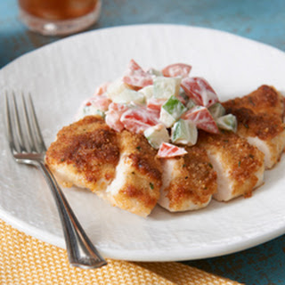 Parmesan-Crusted Summer Fresh Bruschetta Chicken.