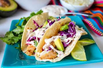 Grilled Fish Tacos With Chipotle Crema