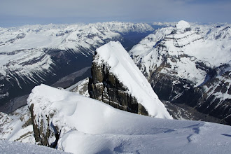 Photo: Twins Tower as seen from the summit of North Twin.