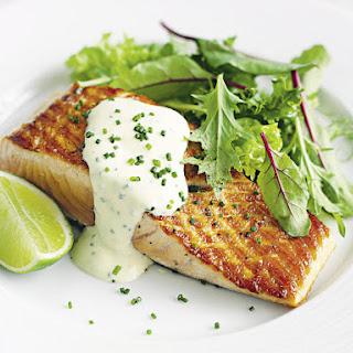 Salmon with Lime Crema