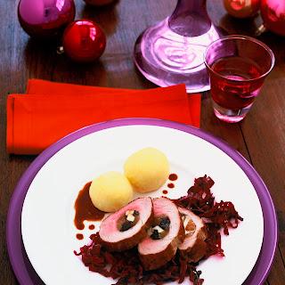 Gefülltes Schweinefilet mit Apfel-Rotkohl
