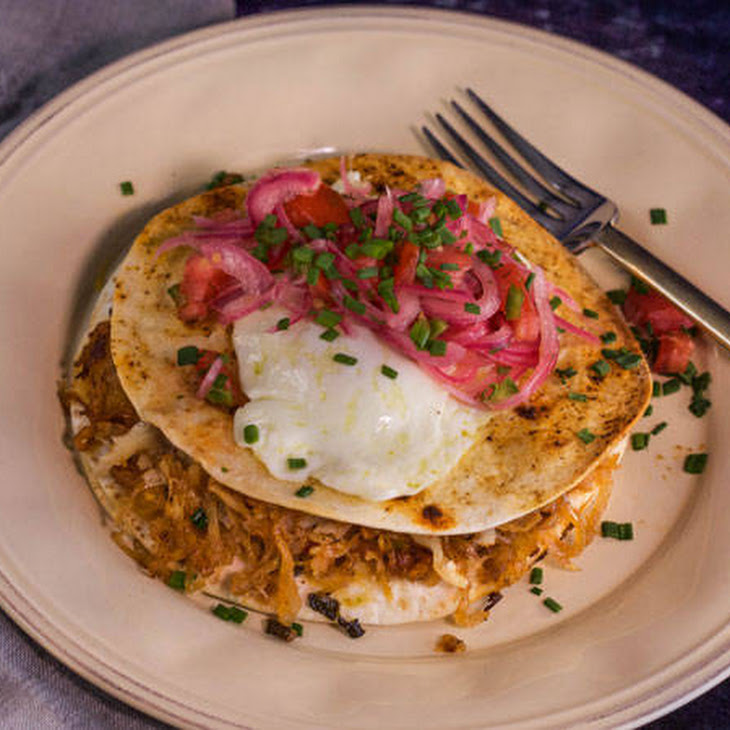Bobby Flay's Bacon and Hash Brown 'Quesadilla' with Eggs