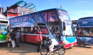 Photo: Buses to Bangkok from Vientiane bus station