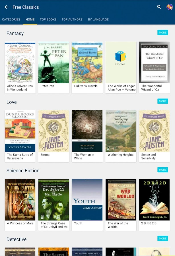 50000 Free Ebooks - Oodles- screenshot