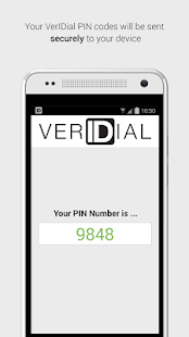 VerIDial Authentication- screenshot thumbnail