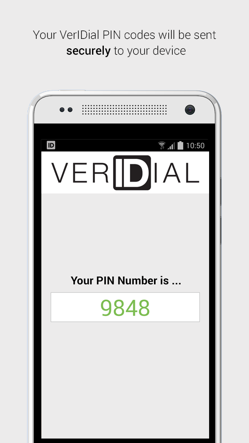 VerIDial Authentication- screenshot