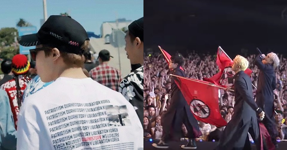 bts shirt flag bighit