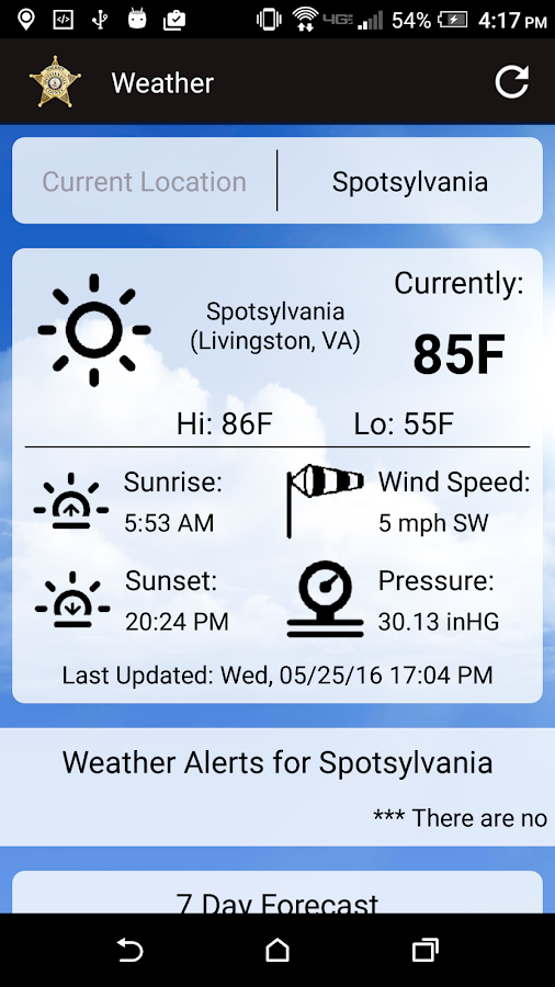 Spotsylvania Sheriff's Office- screenshot
