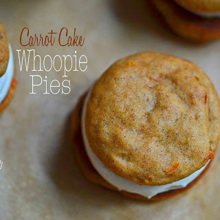 Carrot Cake Whoopie Pies, with Cream Cheese Filling.
