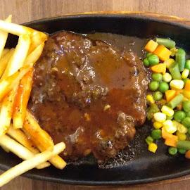 Beef Steak by Ryan X-friends - Food & Drink Plated Food