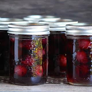Bourbon Soaked Cherries.