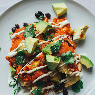 Cozy Vegan Enchiladas W/ Lime Cream.