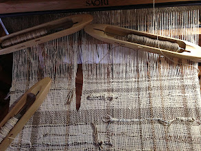 Photo: my cotton and metalic gold yardage