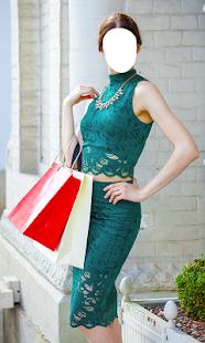 nákupní žena šaty - náhled