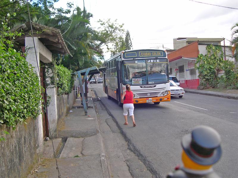 Photo: ciudad colon: a public bus