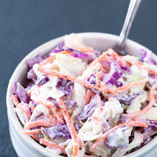 Healthy Creamy Coleslaw (with Greek Yogurt)