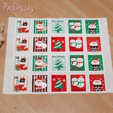 💕聖誕郵票款封口貼