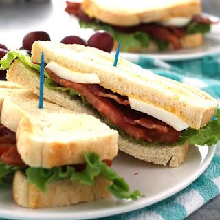 Deviled Egg BLT Sandwich.