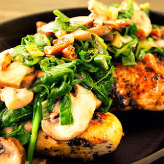 Spinach and Mushroom Chicken.