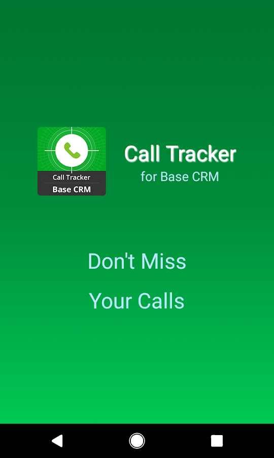 Call Tracker for Base CRM- screenshot