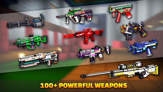 Cops N Robbers – 3D Pixel Craft Gun Shooting Games Mod (Ammo & More) 5