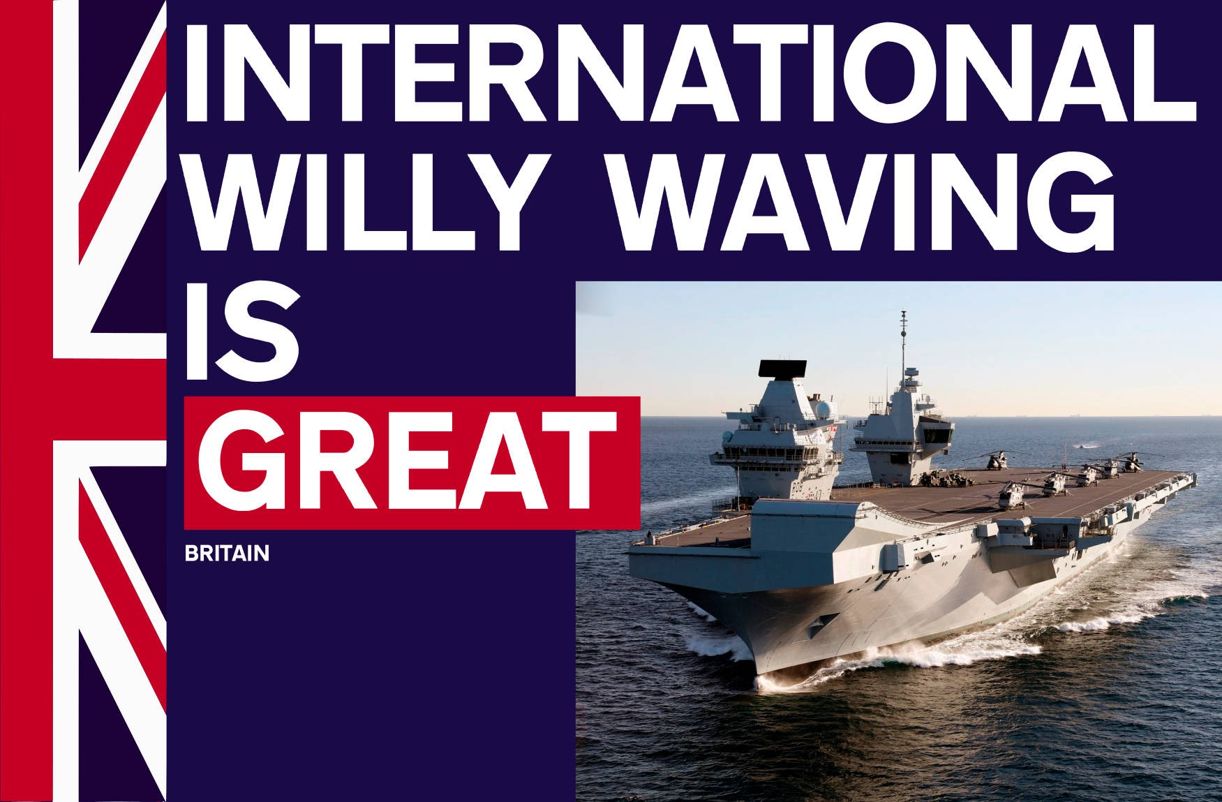 International Willy Waving is Great #WelcomeToGREAT #DissolveTheUnion #EndLondonRule