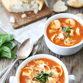 Creamy Tomato Tortellini Soup.