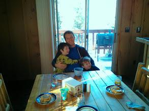 Photo: Daddy Clark and Finn Cabin Breakfast