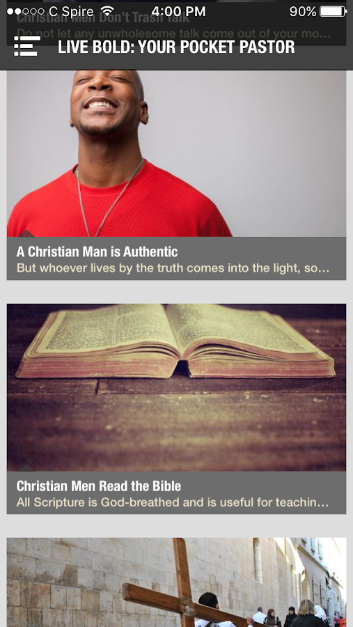 Live Bold for Christian Men- screenshot