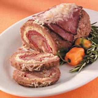 Rolled Reuben Meat Loaf