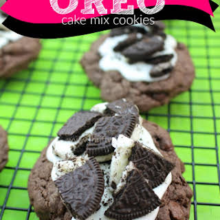 Double Chocolate Chip Oreo Cake Mix Cookies.