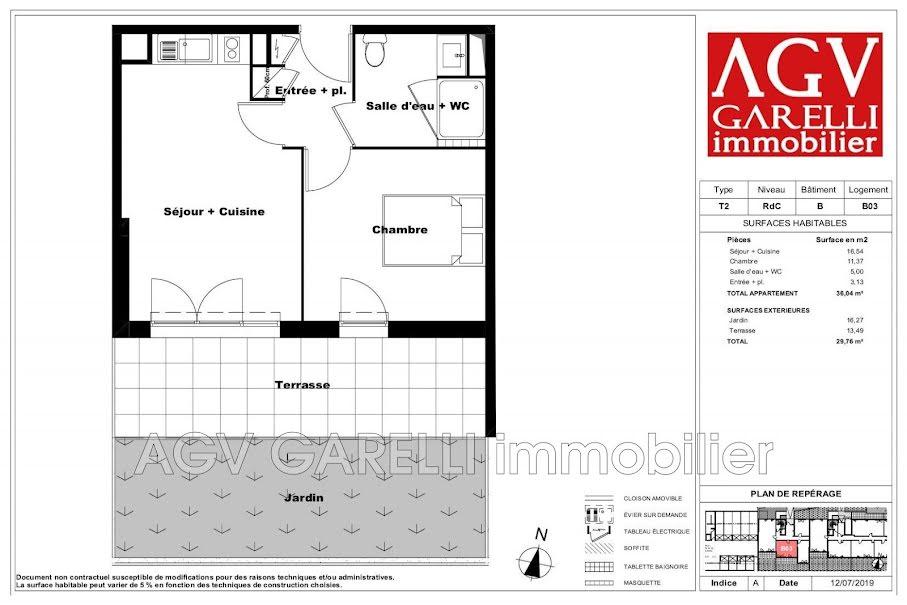 Vente appartement 2 pièces 36.04 m² à Marseille 12ème (13012), 158 250 €