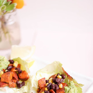 Sweet Potato and Guacamole Wraps