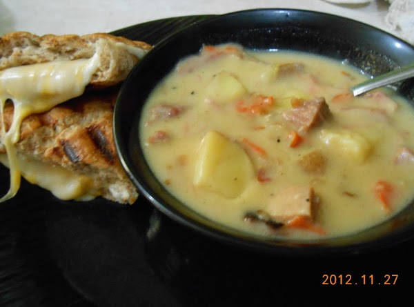 Some of my other soups you may enjoy: http://www.justapinch.com/recipes/soup/vegetable-soup/smokey-roasted-tomato-and-pepper-soup.html http://www.justapinch.com/recipes/soup/beef-soup/roasted-vegetable-soup-with-andouille-sausage.html http://www.justapinch.com/recipes/soup/vegetable-soup/roasted-tomato-soup.html http://www.justapinch.com/recipes/soup/vegetable-soup/rustic-italian-soup.html http://www.justapinch.com/recipes/main-course/chicken/chicken-tomatillo-chowder.html http://www.justapinch.com/recipes/soup/chicken-soup/tomatillo-bacon-ham-corn-chowder.html http://www.justapinch.com/recipes/soup/chicken-soup/creamy-roasted-tomatillo-soup-w-turkey-and-bacon.html http://www.justapinch.com/recipes/soup/chicken-soup/chicken-pot-pie-soup-4.html http://www.justapinch.com/recipes/soup/vegetable-soup/good-ole-creamy-ham-and-veggie-soup.html