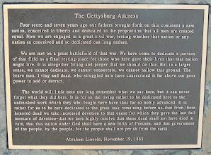Photo: Gettysburg Address