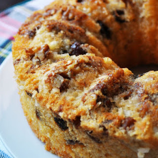 Date Rum Cake with Walnuts and Coconut.