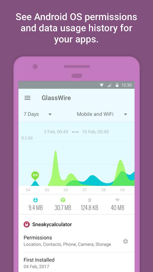 GlassWire – Data Usage Privacy- screenshot