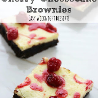Cherry Cheesecake Brownies | Easy Weeknight Dessert!