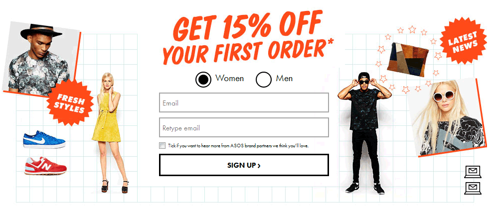 Sign Up for Store Emails