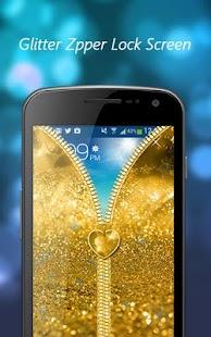 Glitter Zipper Lock Screen - My Photo Zipper Lock - náhled