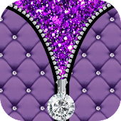 Purple Diamond Zip Lock Screen