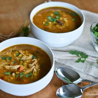 Chipotle Chicken & Pumpkin Soup.
