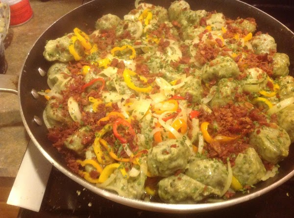 During last 5 minutes or so of cooking add the real bacon bits if...