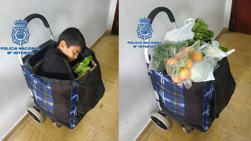 Intentan cruzar a niño palestino a territorio español oculto en un carrito de compras