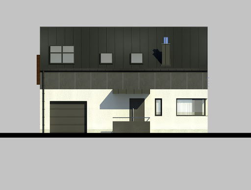 LIM House 03 - Elewacja przednia