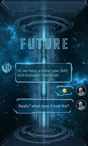 FREE GO SMS PRO FUTURE THEME